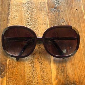 Authentic Chloe purple oversized sunglasses